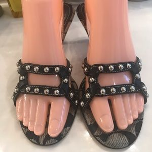 COACH SANDALS SIZE 7 MADE IN ITALY 🇮🇹